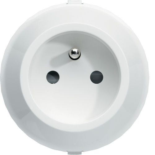 power socket / wall-mounted / polycarbonate / contemporary