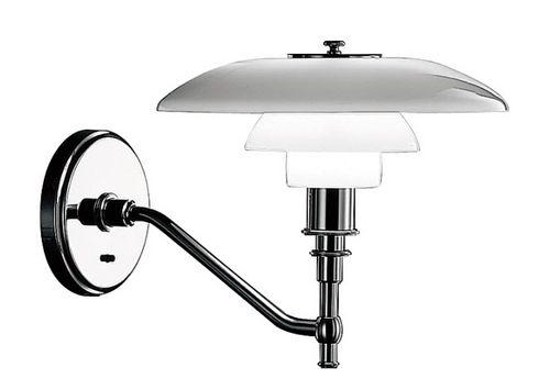 contemporary wall light / glass / brass / chromed metal