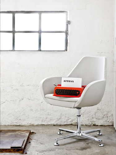 contemporary chair / upholstered / swivel / star base