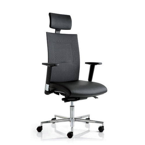 contemporary executive chair / fabric / swivel / on casters