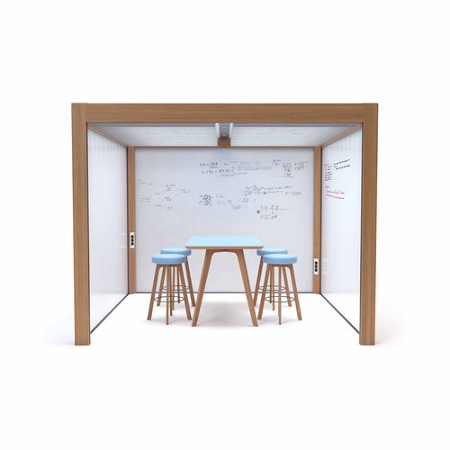 wooden room divider / metal / commercial