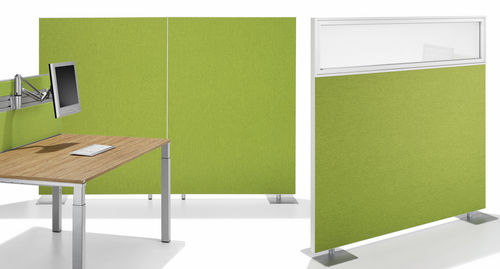 partition wall acoustic panel / aluminum / textile / decorative