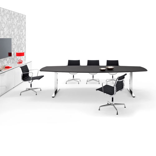 Contemporary boardroom table / metal / MDF / wood veneer WINEA PRO WINI Büromöbel Georg Schmidt GmbH & Co. KG