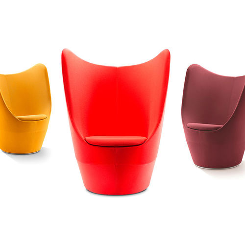 Contemporary visitor armchair / polyurethane / fabric / high-back DIXI by Connection WINI Büromöbel Georg Schmidt GmbH & Co. KG