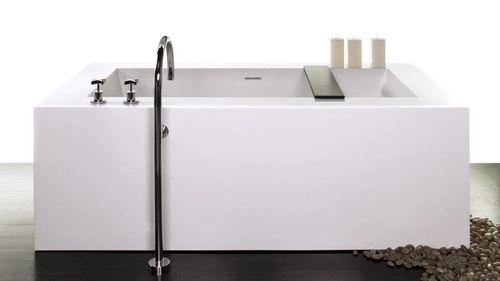 free-standing bathtub / composite / double