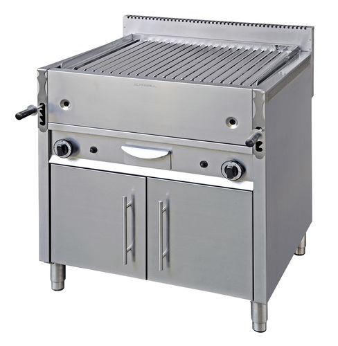gas grill / floor-mounted / commercial