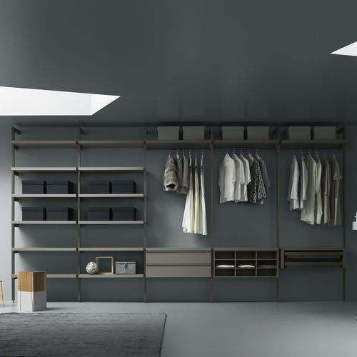 modular walk-in wardrobe / contemporary / wooden