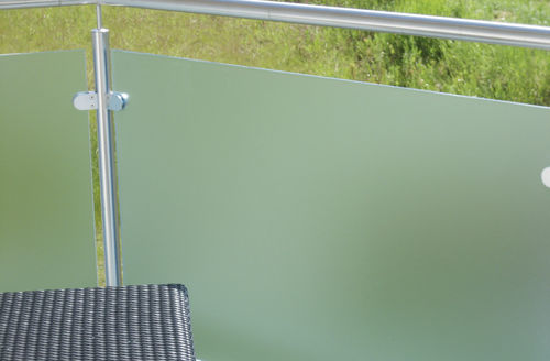 tempered glass panel / for balconies / translucent