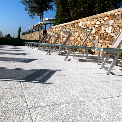 Outdoor tile / for floors / marble / sandblasted WHITE CARRARA 3 MASPE PAVINGS