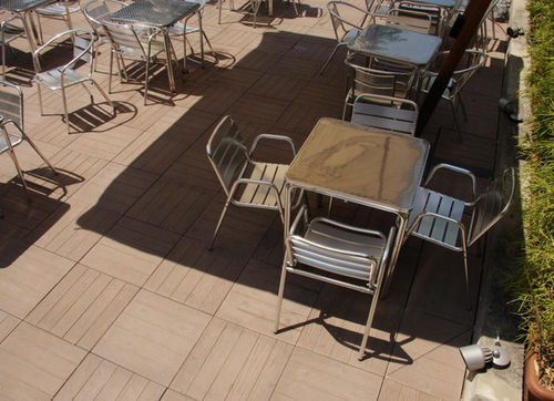 Outdoor tile / for floors / engineered stone / matte IROKO ORTHOGONAL MASPE PAVINGS
