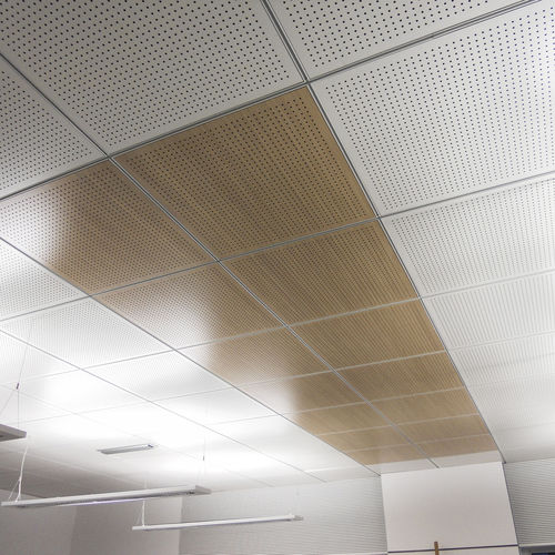 wooden suspended ceiling / panel / tile / acoustic