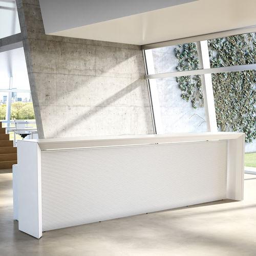 Wooden reception desk MÈTA Fantoni
