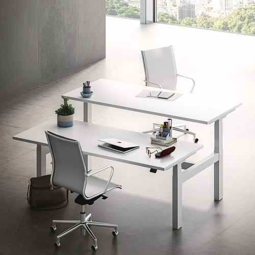 Contemporary work table / MDF / rectangular / for offices SISTEMA28 LIFT-UP Fantoni