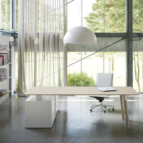 Executive desk / beech / oak / contemporary WOODS Fantoni