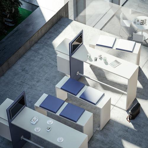 contemporary high bar table / MDF / rectangular / for public buildings
