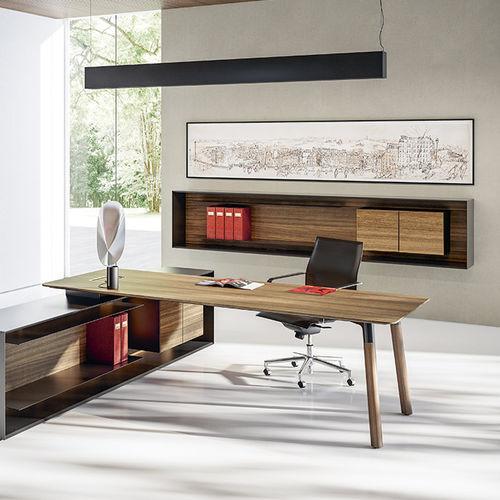 wall-mounted filing cabinet / walnut / Fenix NTM® / with drawers