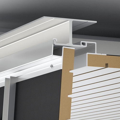 wooden suspended ceiling / aluminum / panel / acoustic
