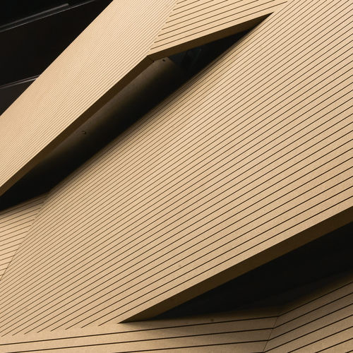 interior fitting acoustic panel / wooden / imitation wood / commercial
