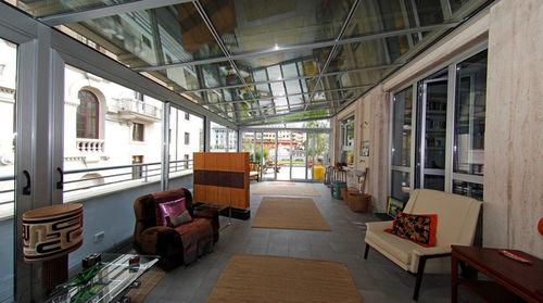glass conservatory / aluminum / motorized