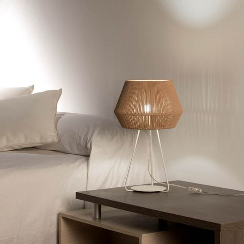 table lamp / contemporary / rope / handmade