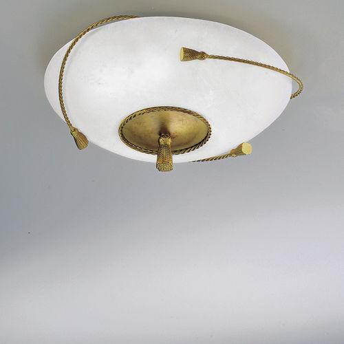 contemporary ceiling light / round / glass / brass