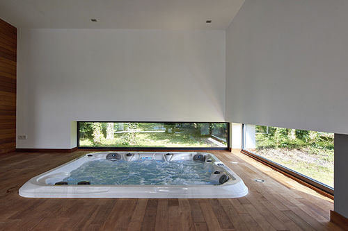 Built-in hot tub / square / multiplace / indoor SPA LILLE PISCINES CARRE BLEU