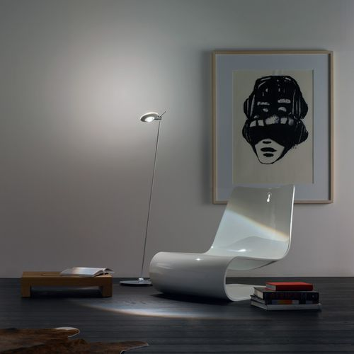 Floor-standing lamp / contemporary / aluminum / glass PURO LETTURA Occhio