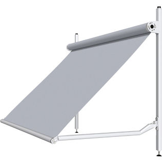folding-arm awning / manual / motorized / window