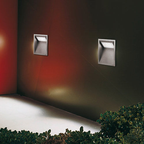 recessed wall light fixture / LED / compact fluorescent / metal halide