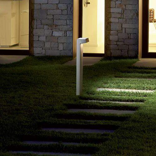 garden bollard light / contemporary / stainless steel / polycarbonate