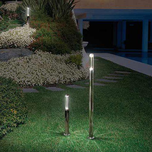 garden bollard light / contemporary / stainless steel / anodized aluminum