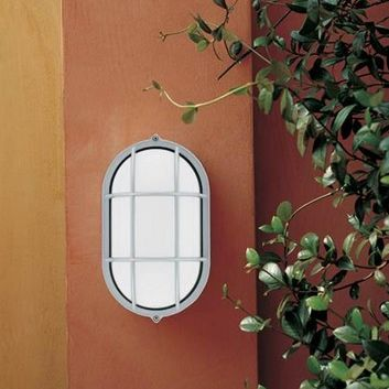 traditional wall light / garden / glass / polycarbonate
