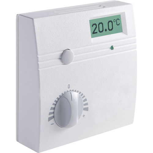 temperature detector / humidity / surface-mounted / commercial