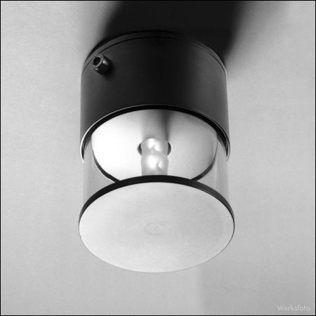 contemporary ceiling light / round / borosilicate glass / stainless steel