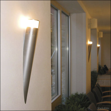 contemporary wall light / stainless steel / glass / LED