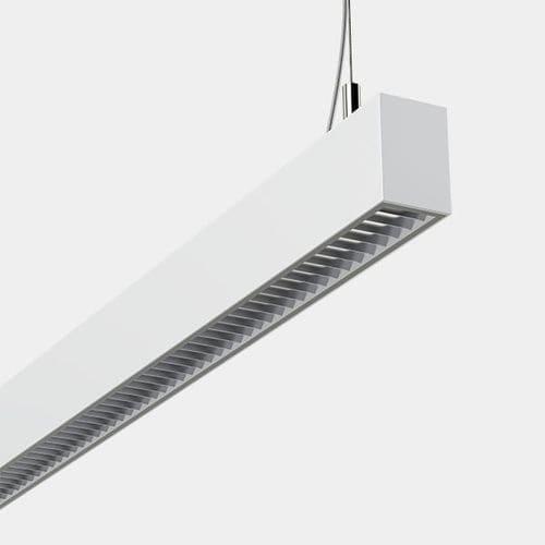 hanging light fixture / LED / linear / anodized aluminum