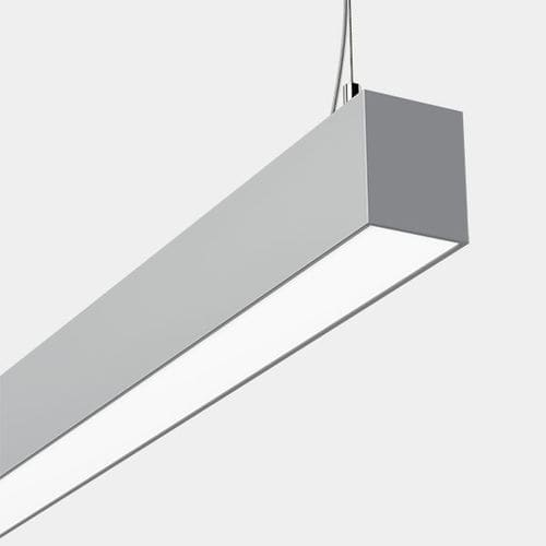 hanging light fixture / LED / linear / anodized aluminum