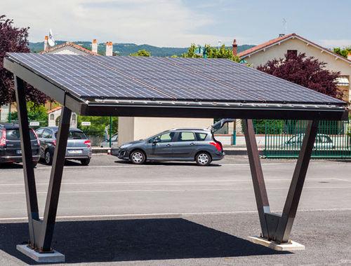 wooden carport / galvanized steel / commercial