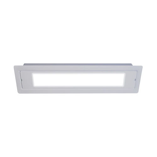 recessed emergency light / ceiling / rectangular / LED