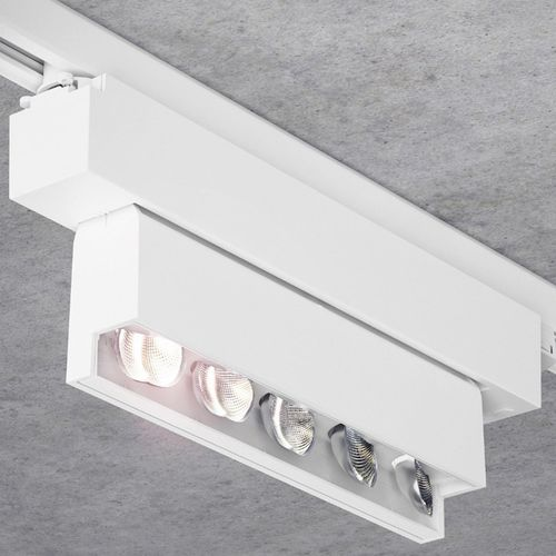 LED track light / linear / metal / commercial
