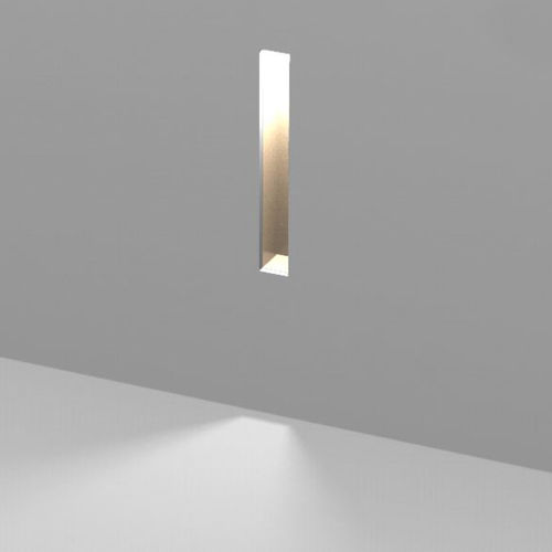 recessed wall light fixture / LED / linear / round