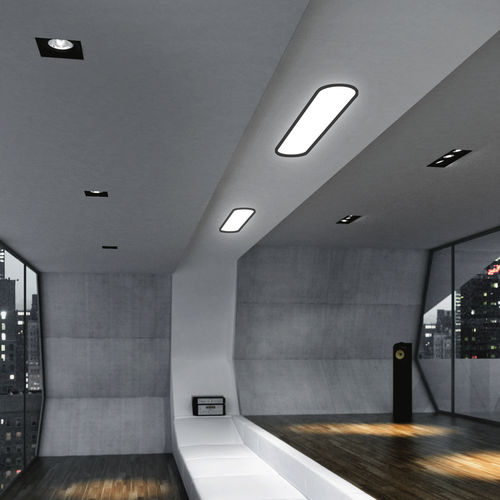 recessed ceiling light fixture / LED / fluorescent / linear