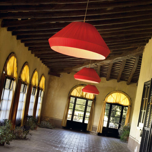 pendant lamp / contemporary / iron / compact fluorescent