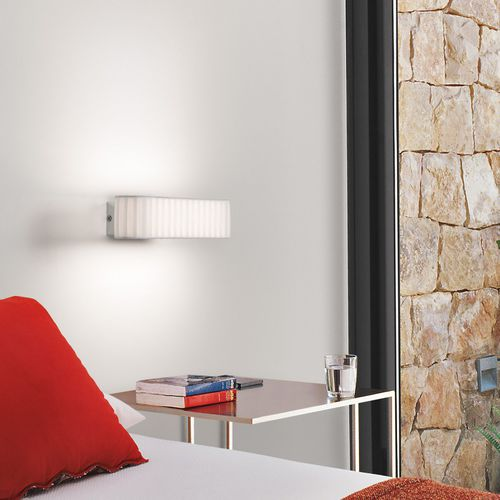 Contemporary wall light / polycarbonate / LED / fluorescent BCN 01 by Joana Bover BOVER Barcelona