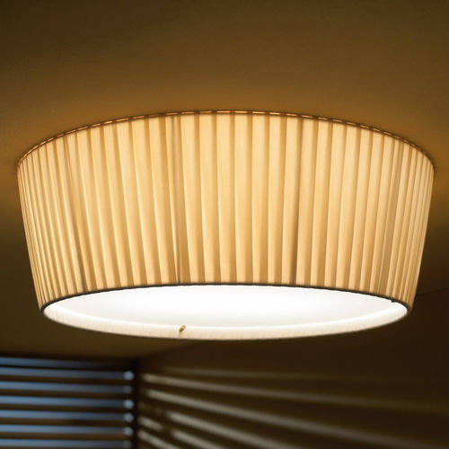 Contemporary ceiling light / round / stainless steel / cotton PLAFONET 02 by Carles Riart & Lluís Porqueras & Joana Bover  BOVER Barcelona