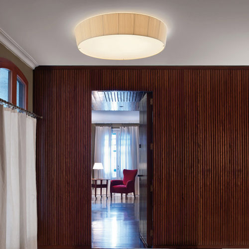 Contemporary ceiling light / round / cotton / LED PLAFONET 03 by Carles Riart & Lluís Porqueras & Joana Bover BOVER Barcelona