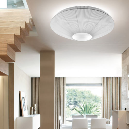 contemporary ceiling light / round / methacrylate / polyester