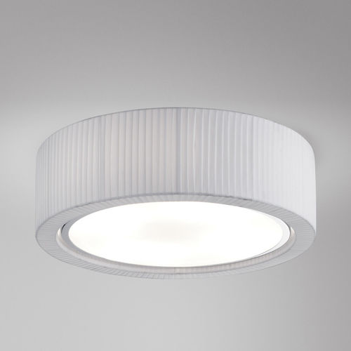 contemporary ceiling light / round / metal / polyester