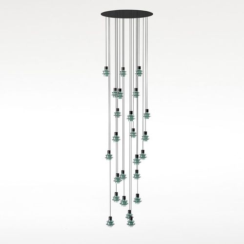 Pendant lamp / contemporary / blown glass / borosilicate glass DROP S/24 by Christophe Mathieu BOVER Barcelona
