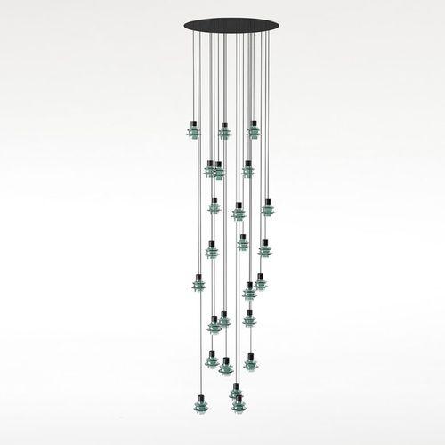 Pendant lamp / contemporary / blown glass / borosilicate glass DROP S/24L by Christophe Mathieu BOVER Barcelona